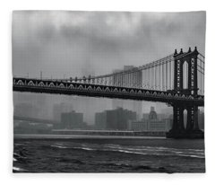 Bridges In The Storm Fleece Blanket