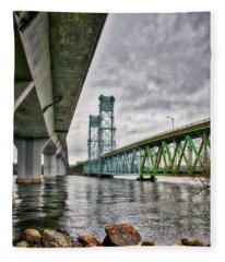 Bridges Over The Kennebec Fleece Blanket