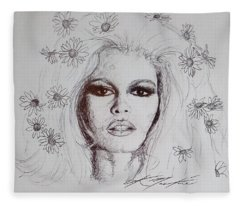 Bridget Bardot Fleece Blanket