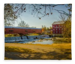 Bridgeton Mill Covered Bridge Fleece Blanket