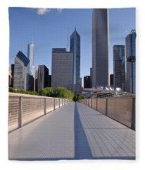 Bridgeway To Chicago Fleece Blanket