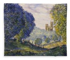 Bridlington Priory From Woldgate On The Hockney Trail Fleece Blanket