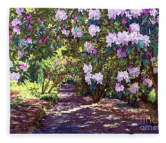 Bright And Beautiful Spring Blossom Fleece Blanket