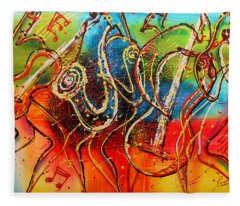 Bright Jazz Fleece Blanket