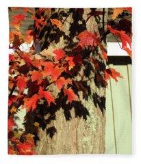 Bright Leaves, Deep Shadows Fleece Blanket