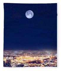 Bright Lights Big City Fleece Blanket