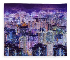 Bright Lights, Big City Fleece Blanket