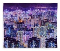 Bright Lights, Big City Fleece Blanket