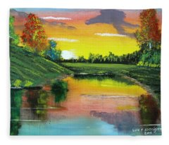 Bright Sunset Fleece Blanket