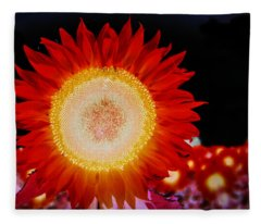 Brighter Than The Sun Flower Fleece Blanket