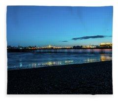 Brighton Pier At Sunset Ix Fleece Blanket