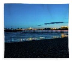 Brighton Pier At Sunset Ix Fleece Blanket