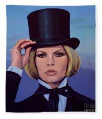 Brigitte Bardot Painting 2 Fleece Blanket