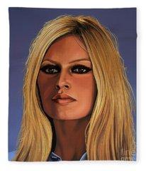 Brigitte Bardot Painting 3 Fleece Blanket