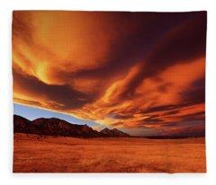 Brilliance Over Boulder Fleece Blanket