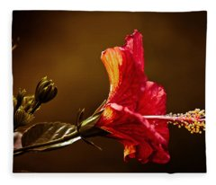 Brilliant Hibiscus Fleece Blanket