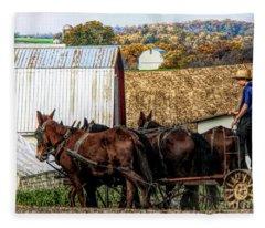 Bringing It Home In Lancaster County, Pennsylvania Fleece Blanket