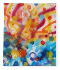 Bringing Life Spray Painting  Fleece Blanket