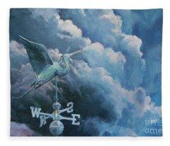 Bringing The Storm Fleece Blanket