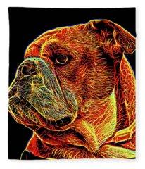 British Bulldog 2 Fleece Blanket