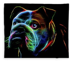 British Bulldog Fleece Blanket