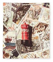 British Post Box Fleece Blanket
