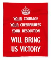British Ww2 Propaganda Fleece Blanket