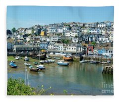Brixham Harbour Fleece Blanket