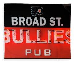 Broad Street Bullies Sign Fleece Blanket