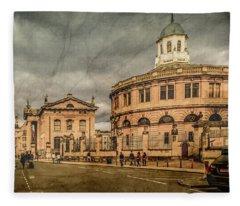 Oxford, England - Broad Street Fleece Blanket