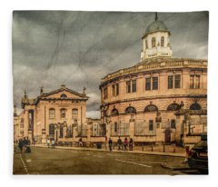 Oxford, England - Broad Street Fleece Blanket