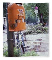 Broken Bike In Berlin Fleece Blanket