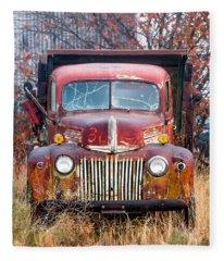 Old Abandoned Truck Fleece Blanket
