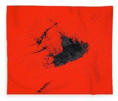Fleece Blanket featuring the painting Broken Heart by Michael Lucarelli