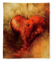 Broken Hearted Fleece Blanket