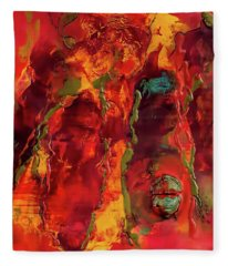 Broken Mask Encaustic Fleece Blanket