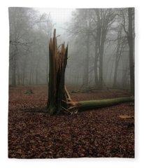 Broken Oak Fleece Blanket