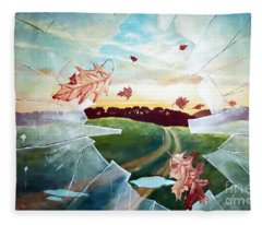 Broken Pane Fleece Blanket