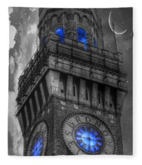 Bromo Seltzer Tower Baltimore - Blue  Fleece Blanket