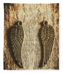 Bronze Angel Wings Fleece Blanket