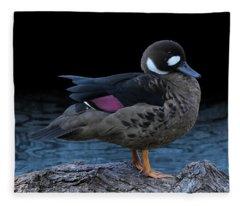Bronze-winged Duck Fleece Blanket