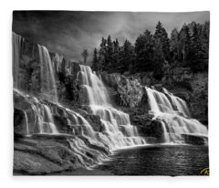 Brooding Gooseberry Falls Fleece Blanket
