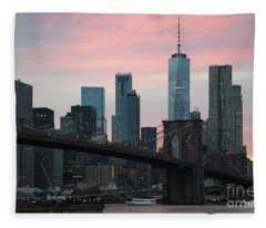 Brooklyn Bridge New York Fleece Blanket
