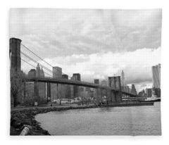 Brooklyn Bridge II Fleece Blanket