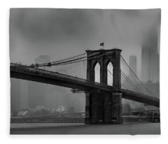 Brooklyn Bridge In A Storm 2 Fleece Blanket