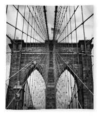Brooklyn Bridge Mood Fleece Blanket
