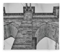 Brooklyn Bridge Tower Fleece Blanket