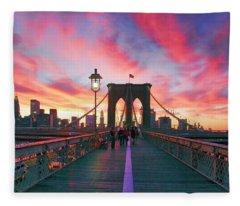 Brooklyn Sunset Fleece Blanket