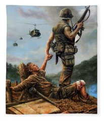 Brothers In Arms Fleece Blanket