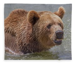 Brown Bear 10 Fleece Blanket